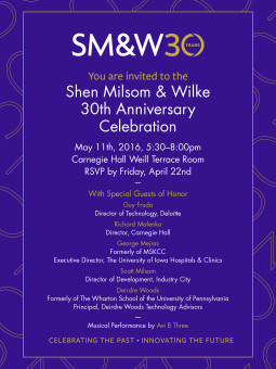 Smw celebrated 30th anniversary at carnegie hall shen milsom author stopboris Choice Image