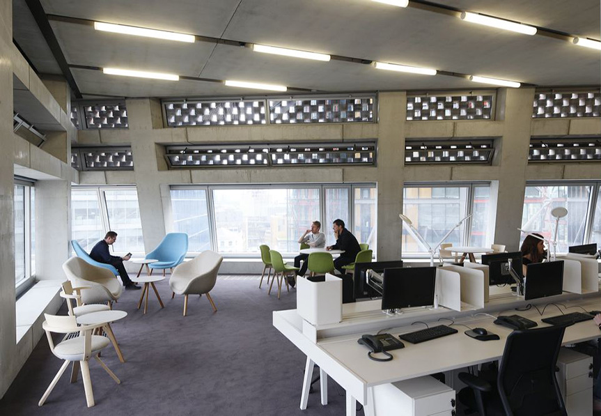 Tate Modern, Case Study, interior workspace