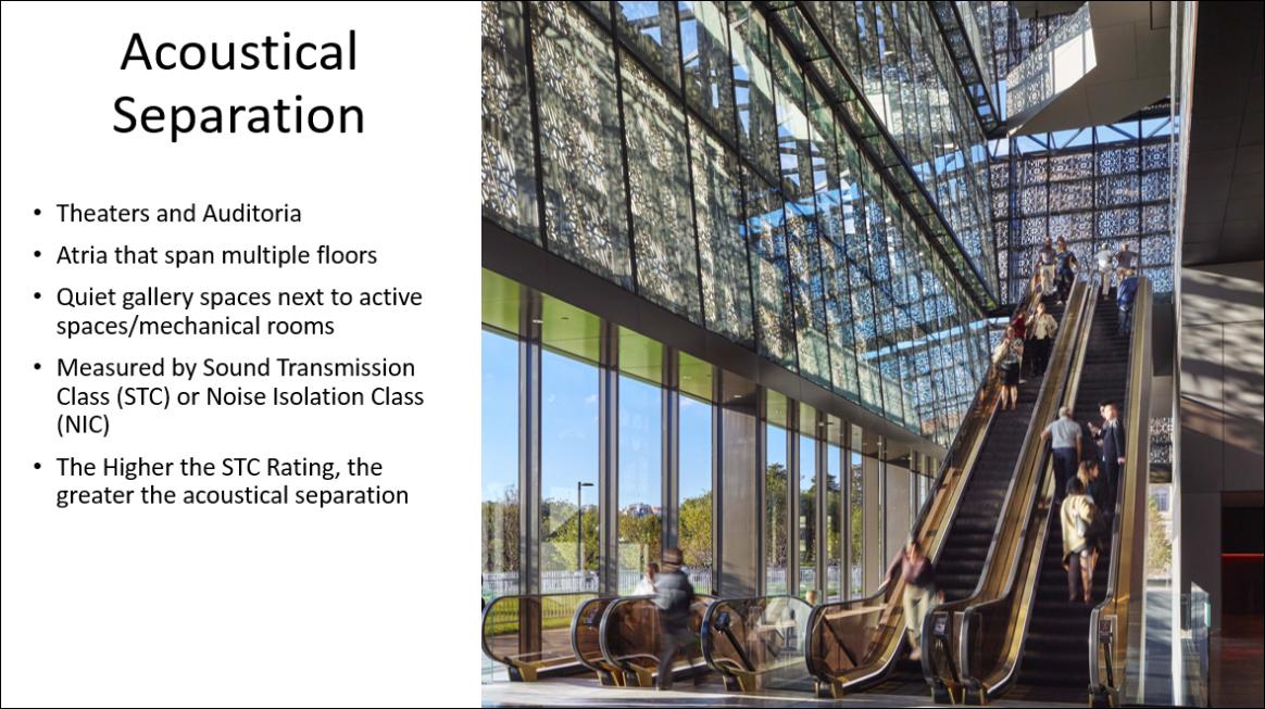 Building Silently Slide 14 acoustical separation