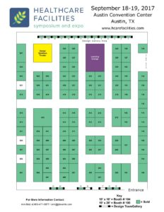 Healthcare Facilites Symposium & Expo HFSE Floorplan 2017