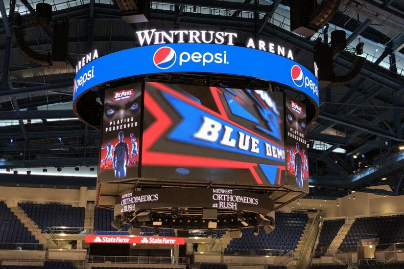 Exterior: McCormick Place Wintrust Arena, Blue Demons, ChicagoShen