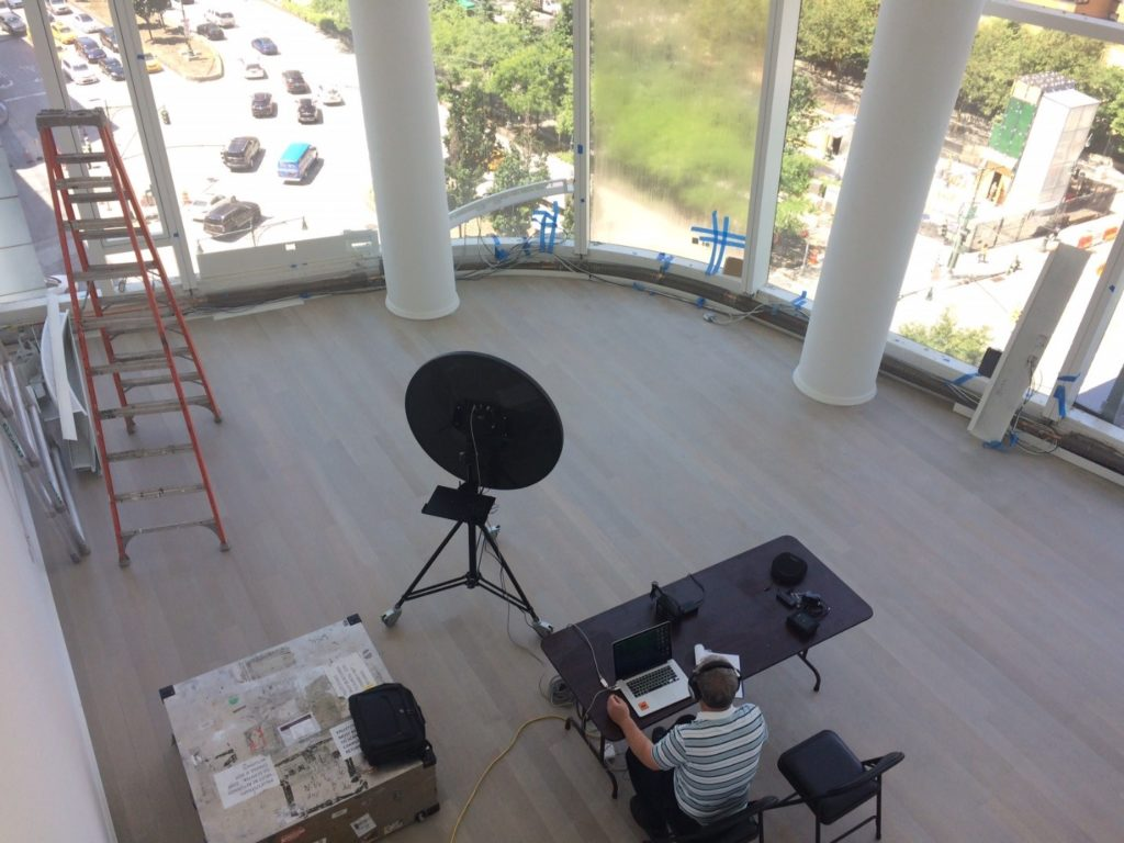 Figure #3: Acoustical Camera Set-Up and Curtain Wall